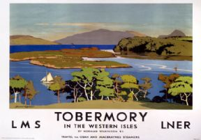Tobermory, Isle of Mull. LMS/LNER Vintage Travel Poster by Norman Wilkinson